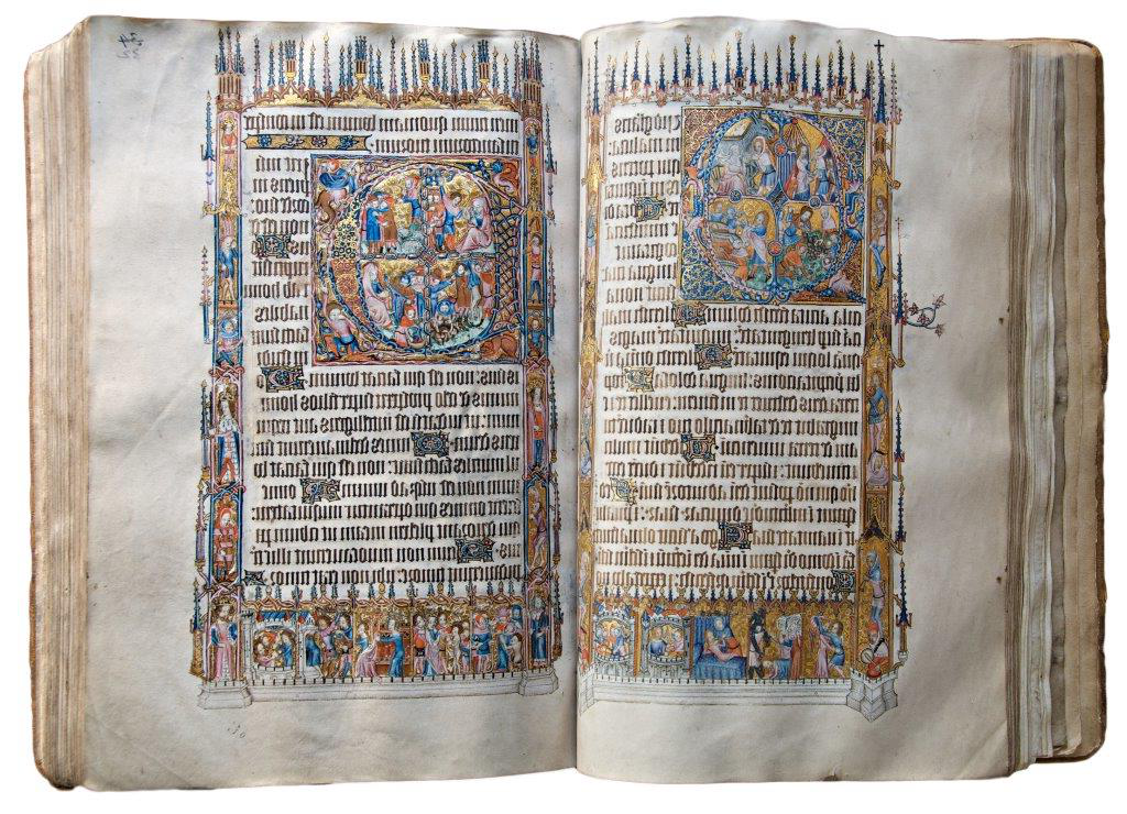 Photograph of the Bohun Psalter, Exeter's greatest treasure